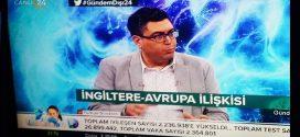 "DOÇ. DR. OZAN ÖRMECİ 24TV'DE ""GÜNDEM DIŞI"" PROGRAMINA KATILDI"