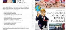 YENİ KİTAP: AMERİKAN İÇ VE DIŞ POLİTİKASI